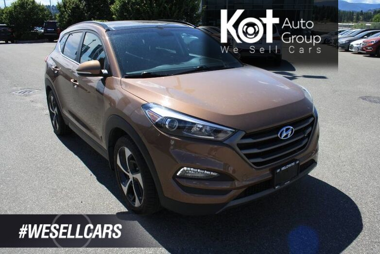 2016 Hyundai Tucson Limited ONE OWNER! NO ACCIDENT! NAVIGATION! LEATHER! PUSH BUTTO Kelowna BC
