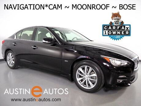 2016 INFINITI Q50 2.0t Premium *NAVIGATION, BACKUP-CAMERA, MOONROOF, BOSE AUDIO, HEATED SEATS/STEERING WHEEL, BLUETOOTH PHONE & AUDIO Round Rock TX