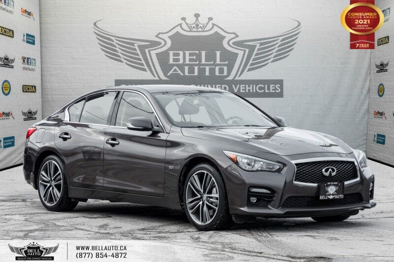 2016 INFINITI Q50 3.0t, S, AWD, 300HP, NAVI, REAR CAM, SUNROOF, SENSORS Toronto ON