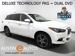 2016_INFINITI_QX60_*DELUXE TECHNOLOGY PKG, PANORAMA MOONROOF, NAVIGATION, DUAL DVD, BLIND SPOT ALERT, COLLISION WARNING w/BRAKING, RADAR CRUISE, CLIMATE SEATS, BOSE AUDIO, BLUETOOTH_ Round Rock TX