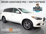 2016 INFINITI QX60 *NAVIGATION, BLIND SPOT ALERT, COLLISION WARNING w/BRAKE, SURROUND VIEW CAMERAS, ADAPTIVE CRUISE, MOONROOF, LEATHER, HEATED SEATS, BOSE, BLUETOOTH