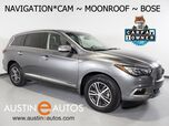 2016 INFINITI QX60 *NAVIGATION, SURROUND VIEW CAMERAS, MOONROOF, LEATHER, HEATED SEATS/STEERING WHEEL, BOSE AUDIO, BLUETOOTH PHONE & AUDIO
