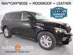 2016 INFINITI QX80 *NAVIGATION, SURROUND CAMERAS, 2ND ROW BUCKET SEATS, LEATHER, MOONROOF, HEATED SEATS/STEERING WHEEL, BOSE AUDIO, BLUETOOTH