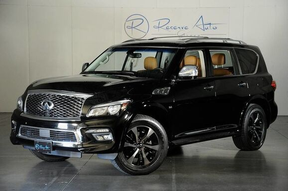 2016_INFINITI_QX80 Signature Edition_4WD / Blind Spot Monitor / Adaptive Crusie_ The Colony TX