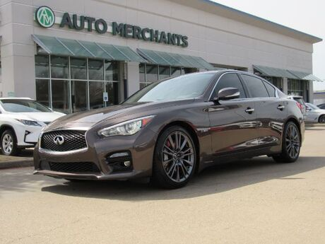 2016 Infiniti Q50 Red Sport 400  LEATHER SEATS, SUNROOF, NAVIGATION, HEATED FRONT SEATS, BLIND SPOT MONITOR Plano TX