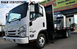 2016_Isuzu_NPR-HD_18' Beavertail Flatbed (Diesel)_ Homestead FL