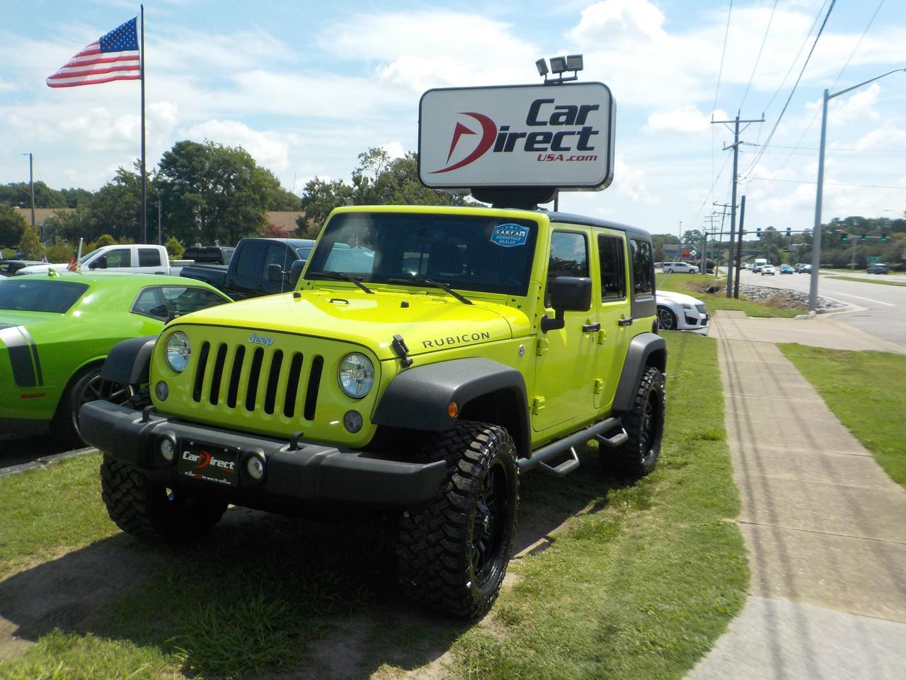 2016 JEEP WRANGLER RUBICON UNLIMITED 4X4, FUEL RIMS, HARD TOP, RUNNING BOARDS, FENDER FLARES, UCONNECT, AUXILIARY PORT Virginia Beach VA