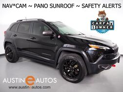 2016_Jeep_Cherokee 4WD Trailhawk 3.2L V6_*NAVIGATION, PANORAMA MOONROOF, BLIND SPOT ALERT, BACKUP-CAMERA, ADAPTIVE CRUISE, COLLISION ALERT, LEATHER, PREMIUM AUDIO, BLUETOOTH_ Round Rock TX