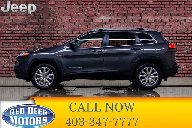 2016 Jeep Cherokee 4x4 Limited Leather Roof Nav Red Deer AB