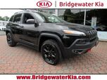 2016 Jeep Cherokee Trailhawk 4WD, Remote Start System, Navigation, Rear-View Camera, Bluetooth Streaming Touch Screen Audio, Heated Leather Seats, Panorama Sunroof, Power Liftgate, 17-Inch Alloy Wheels,