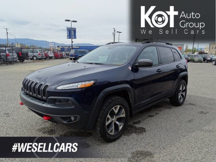 2016 Jeep Cherokee Trailhawk Heated Leather Seats, Panoramic Sunroof, Tow Package, Kelowna BC