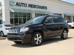 2016 Jeep Compass Latitude 4WD SUNROOF, HTD SEATS, AUX INPUT, CD PLAYER, AM/FM RADIO, LEATHER