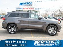 2016_Jeep_Grand Cherokee_4WD Summit, Pano Sunroof, Nav, Cooled/Heated Leather, Adaptive Cruise Control, Bluetooth, Blind-Spot_ Calgary AB