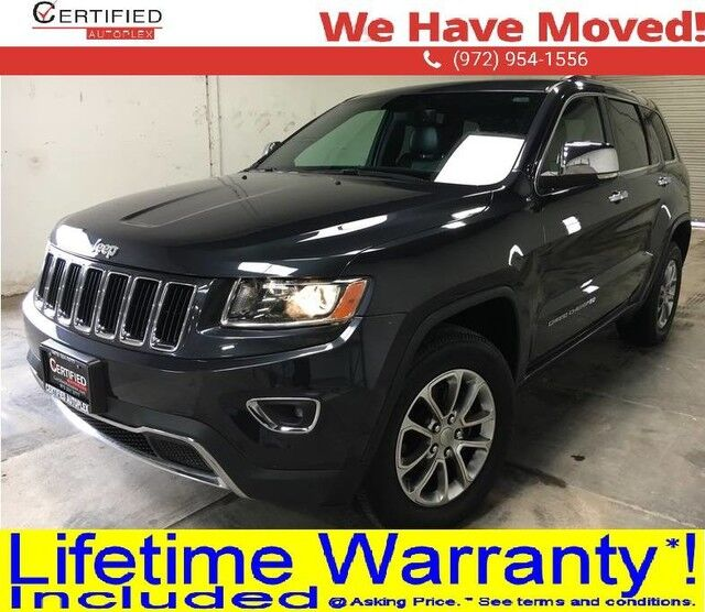 2016 Jeep Grand Cherokee LIMITED 4WD NAVIGATION SUNROOF LEATHER HEATED SEATS REAR CAMERA REAR PARKIN Dallas TX