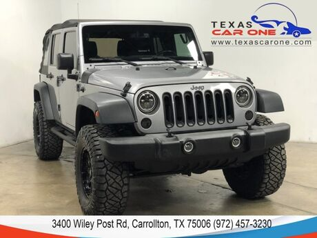 2016 Jeep Wrangler UNLIMITED SPORT 4WD AUTOMATIC SOFT TOP CONVERTIBLE CRUISE CONTROL ALLOY WH Carrollton TX
