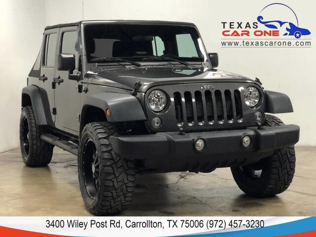 2016 Jeep Wrangler UNLIMITED SPORT 4WD AUTOMATIC SOFT TOP CONVERTIBLE CRUISE CONTROL ALLOY WHEELS Carrollton TX