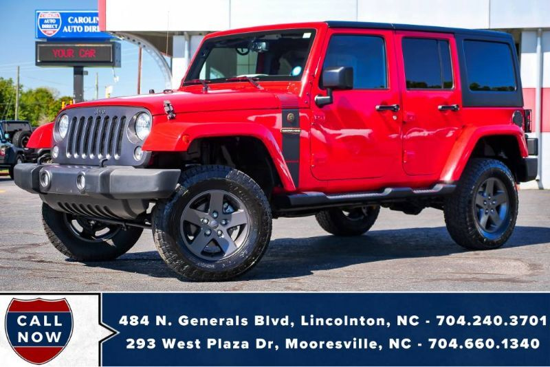 2016 Jeep Wrangler Unlim Freedom 4X4 *Hard Top* LIFTED w/ Remote Start Mooresville NC