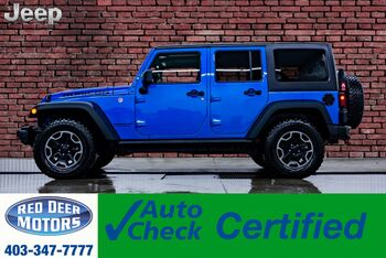 2016_Jeep_Wrangler Unlimited_4x4 Rubicon Leather Nav Winch_ Red Deer AB