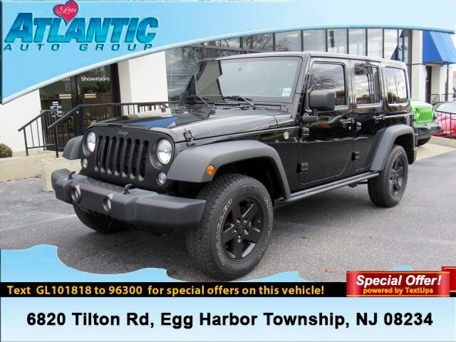 2016 Jeep Wrangler Unlimited Black Bear Egg Harbor Township NJ