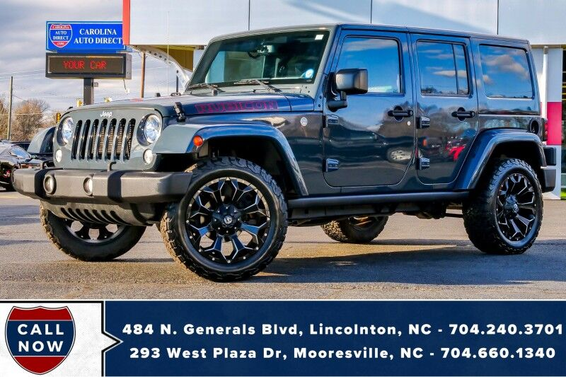 2016 Jeep Wrangler Unlimited Rubicon 4X4 w/ Matching Hard Top, Fuel Wheels & BFG's Mooresville NC