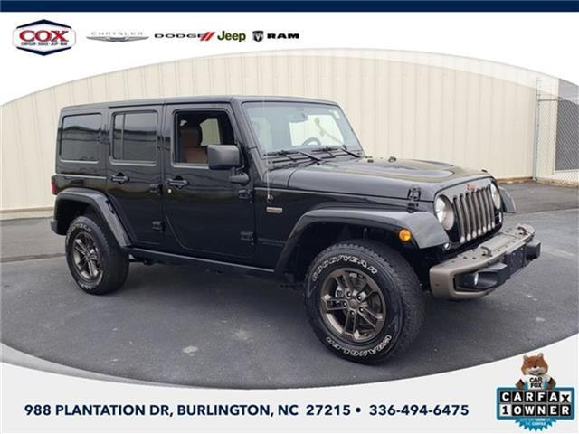 2016 Jeep Wrangler Unlimited Sahara 4x4 Burlington NC