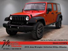 2016_Jeep_Wrangler_Unlimited Willys Wheeler_ Moncton NB