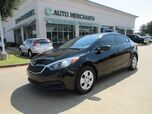 2016 Kia Forte LX w/Popular Package CLOTH SEATS, BLUETOOTH CONNECTIVITY, USB/AUX INPUT, STEERING WHEEL CONTROLS