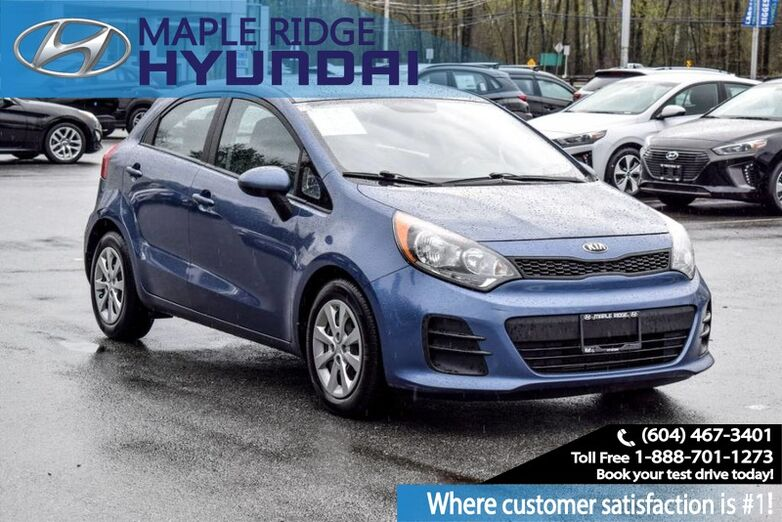 2016 Kia Rio EX Hatchback, Air Conditioning, USB Port, Auxiliary Input Maple Ridge BC