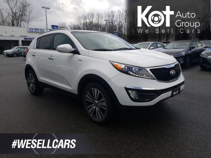 2016 Kia SPORTAGE EX LUXURY! LEATHER! PANORAMIC SUNROOF! NAV! NO ACCIDENTS! CLEARANCE PRICE! Kelowna BC