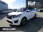 2016 Kia Sorento 3.3L SX, 7 Passenger, Tow Package, Heated Leather Seats and Steering Wheel, Navigation, Back-Up Camera