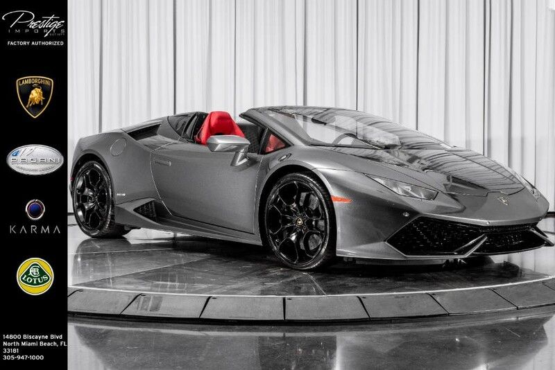 2016_Lamborghini_Huracan_LP 610-4 Spyder_ North Miami Beach FL