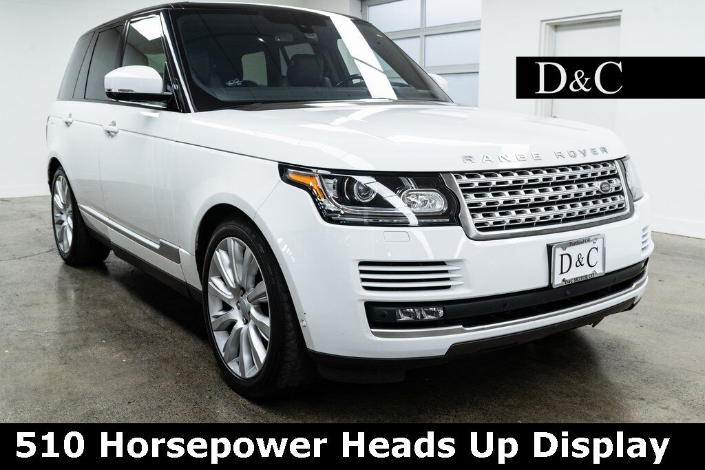 2016 Land Rover Range Rover 5.0L V8 Supercharged 510 Horsepower Heads Up Display Portland OR