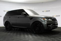 2016_Land Rover_Range Rover Sport_V6 HSE Satin Matt Gray Wrap, Autobiography 22 Wheels, Blind Spot_ Houston TX