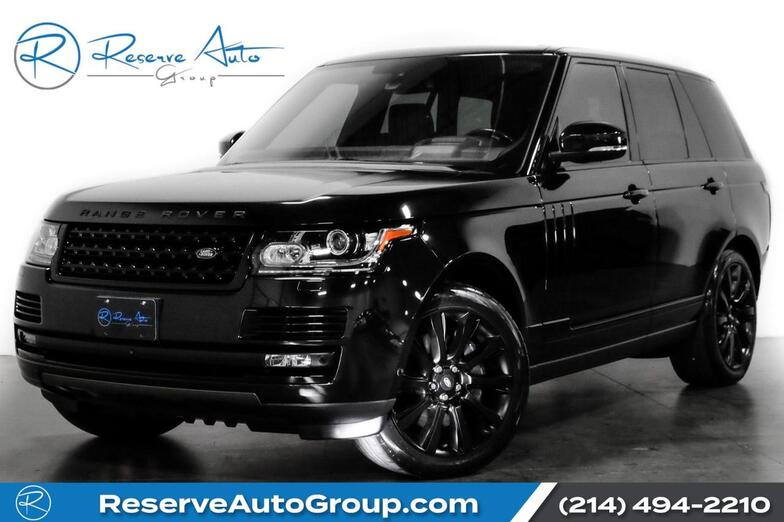 2016 Land Rover Range Rover Supercharged Ebony BlackOut Pkg DrvrAsst Pkg Vision Pkg The Colony TX