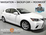 2016 Lexus CT 200h Hybrid *NAVIGATION, BACKUP-CAMERA, MOONROOF, HEATED SEATS, ALLOY WHEELS, BLUETOOTH PHONE & AUDIO