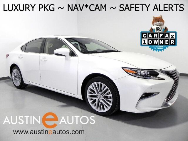 2016 Lexus ES 350 *LUXURY PKG, NAVIGATION, COLLISION ALERT, BLIND SPOT ALERT, ADAPTIVE CRUISE, LED HEADLIGHTS, BACKUP-CAM, CLIMATE SEATS, MOONROOF Round Rock TX