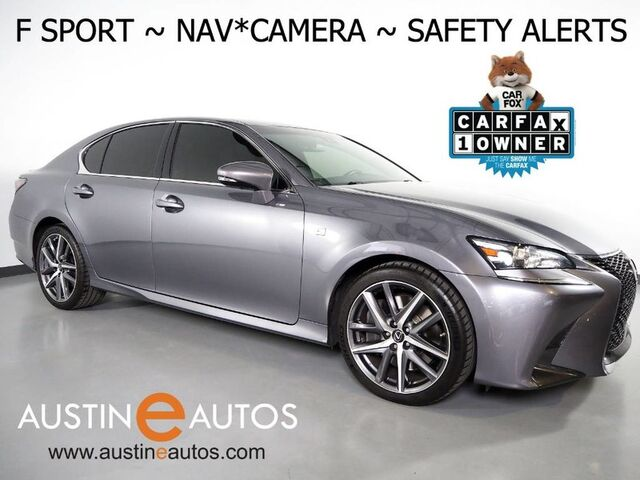 2016 Lexus GS 350 F Sport *NAVIGATION, PRE-COLLISION ALERT, LANE KEEP ASSIST, BLIND SPOT ALERT, ADAPTIVE CRUISE, BACKUP-CAM, MOONROOF, LEATHER, CLIMATE SEATS, MARK LEVINSON Round Rock TX