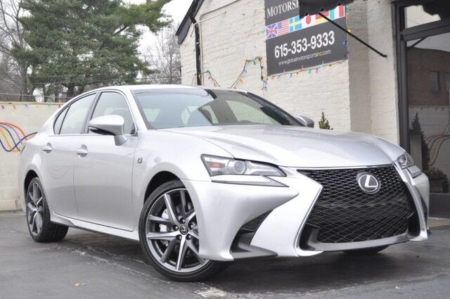 2016 Lexus GS 350 F Sport/Navigation Pkg/Blind Spot Monitors w/ Power-Folding Mirrors/Lexus Safety System w/ Pre-Collision System, Radar Cruise Control, Lane Departure Alert/Heated & Ventilated Front Seats/Intuitive Park Assist/One-Touch Power Trunk Nashville TN