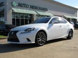 2016 Lexus IS 200t F-SPORT 2.0L 4CYL AUTOMATIC, MARK LEVINSON SOUND SYSTEM, NAVIGATION, SUNROOF, BACK-UP CAMERA