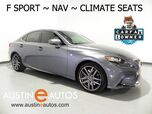 2016 Lexus IS 200t *F SPORT, NAVIGATION, BLIND SPOT ALERT, BACKUP-CAMERA, CLIMATE SEATS, MOONROOF, BLUETOOTH PHONE & AUDIO