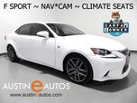 2016 Lexus IS 200t *F SPORT, NAVIGATION, BLIND SPOT ALERT, BACKUP-CAMERA, MOONROOF, CLIMATE SEATS, HEATED STEERING WHEEL, BLUETOOTH