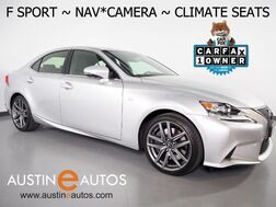 2016_Lexus_IS 200t_*F SPORT PKG, NAVIGATION, BLIND SPOT ALERT, BACKUP-CAMERA, MOONROOF, CLIMATE SEATS, ALLOY WHEELS, BLUETOOTH PHONE & AUDIO_ Round Rock TX