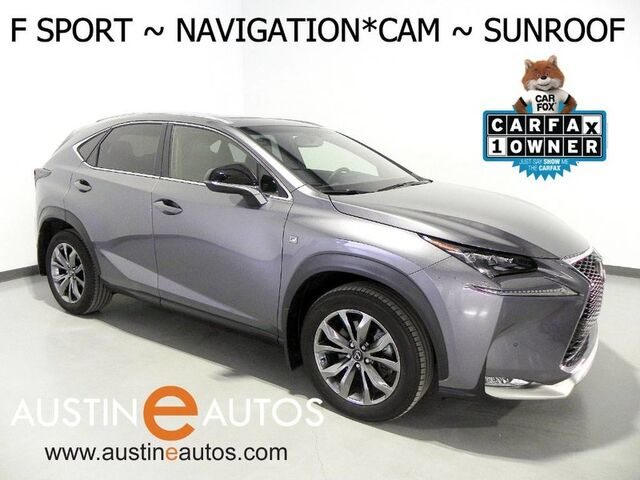 2016 Lexus NX 200t F Sport *NAVIGATION, BLIND SPOT ALERT, BACKUP-CAMERA, MOONROOF, LED HEADLAMPS, HEATED SEATS/STEERING WHEEL, POWER LIFTGATE, BLUETOOTH PHONE & AUDIO Round Rock TX