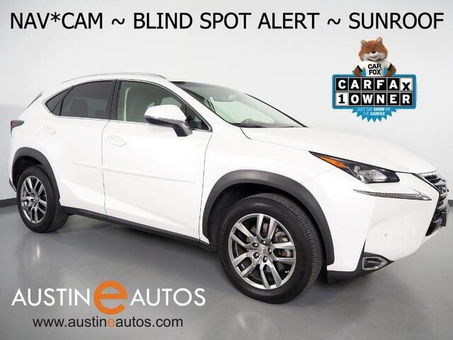 2016 Lexus NX 200t *NAVIGATION, BLIND SPOT ALERT, BACKUP-CAMERA, MOONROOF, CLIMATE SEATS, POWER TAILGATE, INTUITIVE PARK ASSIST, BLUETOOTH PHONE & AUDIO Round Rock TX