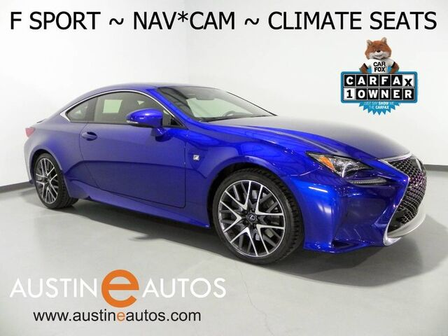 2016 Lexus RC 200t *F SPORT, NAVIGATION, BLIND SPOT ALERT, BACKUP-CAMERA, CLIMATE SEATS, MOONROOF, BLUETOOTH AUDIO Round Rock TX