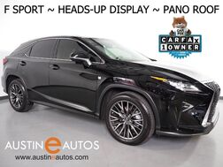 2016_Lexus_RX 350 AWD F Sport_*HEADS-UP DISPLAY, NAVIGATION, PANORAMA MOONROOF, COLLISION ALERT, ADAPTIVE CRUISE, LANE DEPARTURE & BLIND SPOT ALERT, LED HEADLIGHTS, CLIMATE SEATS, MARK LEVINSON AUDIO_ Round Rock TX