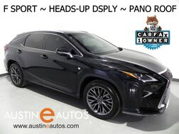 2016_Lexus_RX 350 AWD F Sport_*PANORAMA MOONROOF, HEADS-UP DISPLAY, NAVIGATION, BLIND SPOT ALERT, COLLISION & LANE DEPARTURE ALERT, ADAPTIVE CRUISE, CLIMATE SEATS, HEATED STEERING WHEEL_ Round Rock TX