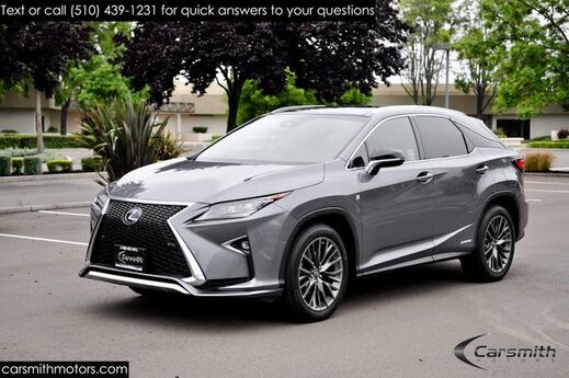 2016 Lexus RX 450h F Sport AWD Loaded with Red Leather One Owner CA CAR CPO to 100K Miles Fremont CA