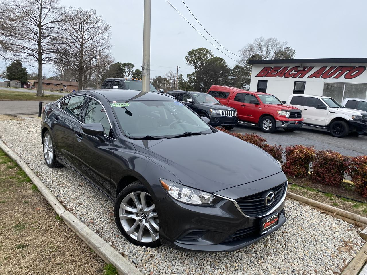 2016 MAZDA 6 I TOURING, WARRANTY, LEATHER, BACKUP CAM, PARKING SENSORS, AUX/USB PORT, BLUETOOTH, CLEAN CARFAX! Norfolk VA