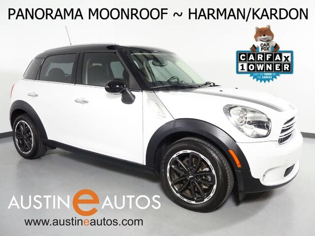 2016 MINI Cooper Countryman *AUTOMATIC, PANORAMA MOONROOF, HARMAN/KARDON, PARK DISTANCE CONTROL, COMFORT ACCESS, HEATED SEATS, BLACK ALLOYS, BLUETOOTH Round Rock TX